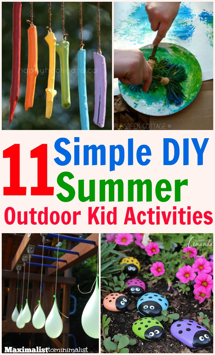 11 kid 39 s outdoor activities that are simple frugal and fun for Fun at home projects